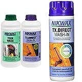 Nikwax Tech Wash Waschmittel + TX Direct Imprägnierung, 2x1 Liter, für Funktio