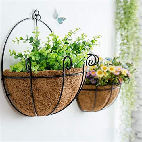 FjrOnline - Fioriera da appendere in ferro, da parete, con ganci a catena, per decorare la casa, il giardino, il balcone