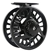 M MAXIMUMCATCH Maxcatch Tino Fly Fishing Reel in Large Arbor: 5/6 Weight (Black Reel, 5/6 wt)