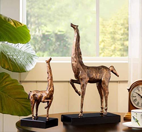 LKXZYX Decorativos Figuras Salon candelabros de Jardin Exterior Miniatura,Escultura Madre e Hijo Caballo Modelo Casa Oficina de Ventas Decoración Suave