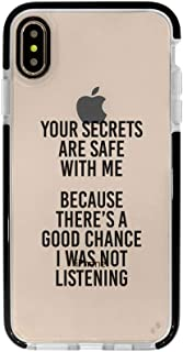 Ultra Slim iPhone Case - Silicone Protective Cover - Compatible for iPhone 11 Pro Max - Funny Quote Case - Sassy - Cool Case - Cute - Bitchy - Sarcasm Quotes - Black Flexible Soft TPU Cover Case