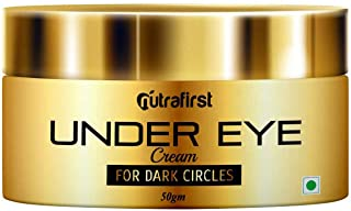 Nutrafirst Under Eye Cream for Dark Circles, Wrinkles, and Puffiness suitable for Men & Women � 50gm