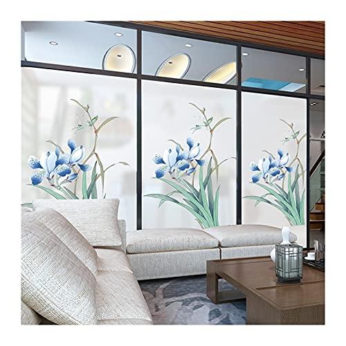 Pegatinas de ventana personalizadas Puertas de vidrio Puerta de vidrio Sala de estar Decoración Dormitorio Electrostático Etiquetas de vidrio congelado Esmaltado Película de vidrio Auto adhesivo