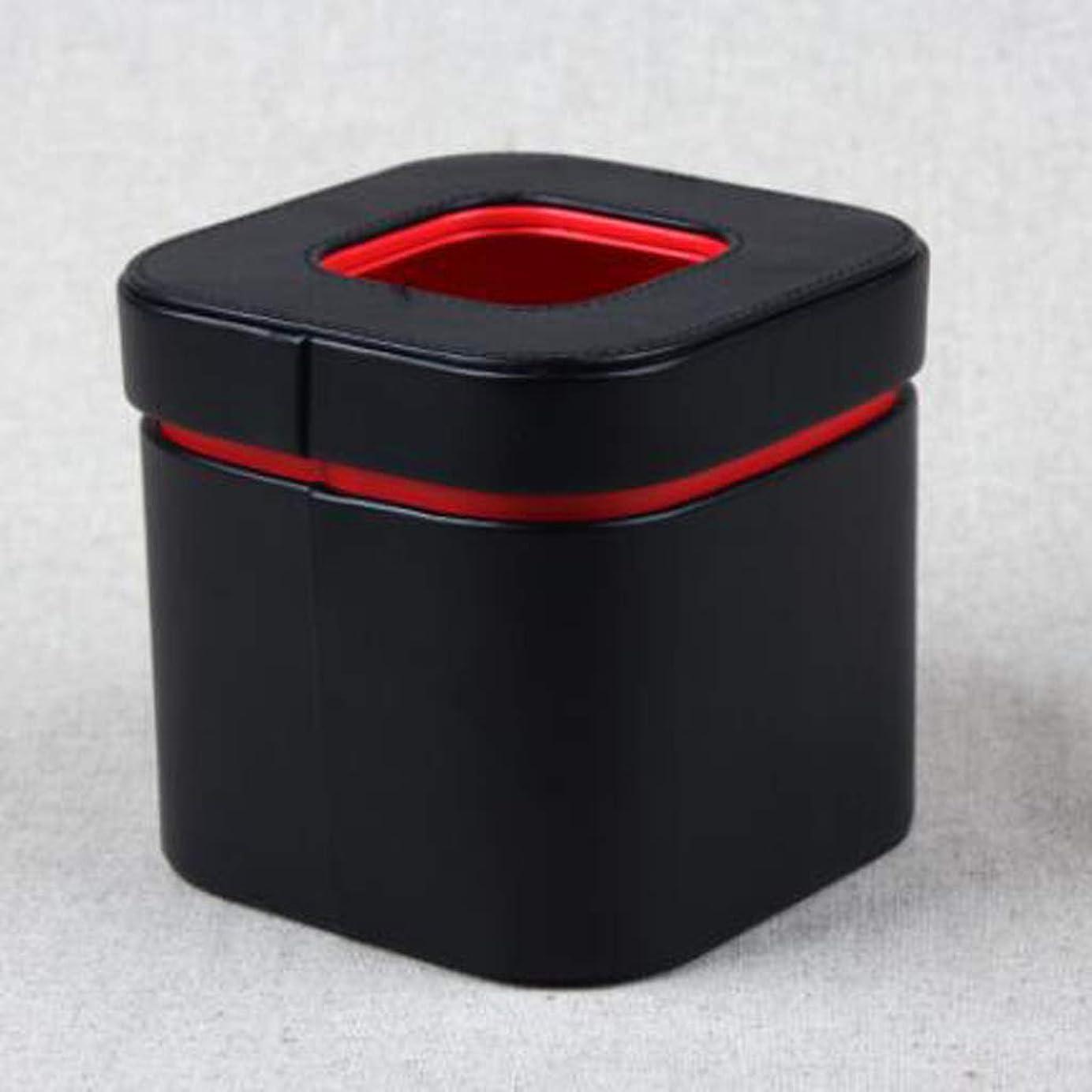 ダイヤモンド安心させる石炭ティッシュボックス世帯表デスクトップストレージボックスシンプルな紙箱赤黒、白と青の色 JSSFQK (Color : Black)
