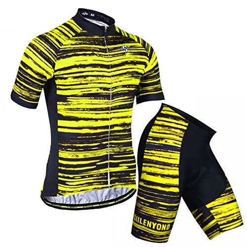 X-Labor Conjunto de maillot de ciclismo para hombre con diseño de rayas,...