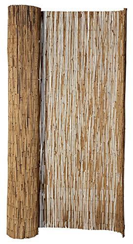 Hiss Reet® Schilf Sichtschutz, Schilfrohrmatte Standard I Perfekter Windschutz & Sichtschutz für Balkon, Zaun & Garten I Verschiedene Größen (200 x 600 cm)