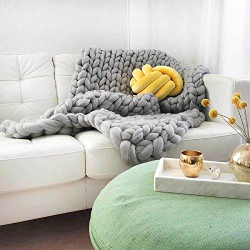 Adorist Wolldecke Cosima Chunky Knit small 80x130cm, hellgrau grau