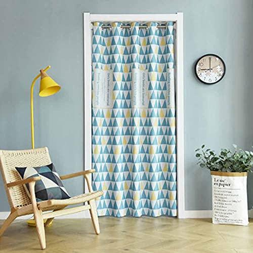 LXHONG Verdunkelungsvorhänge, Ersticken Isolierung Vorhang Einfacher Sichtschutz-Trennvorhang Für Schlafzimmer Küche Balkon, Einfach Zu Säubern (Color : Blue, Size : 150x180cm)