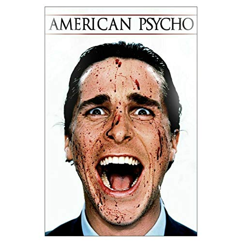 American Psycho Bateman Horror Movie Painting Poster Print Canvas Wall Picture For Home Room Decor -50x70cm Sin marco