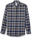 Amazon Essentials Men's Regular-Fit Long-Sleeve Flannel Shirt, Red Ombre, Medium