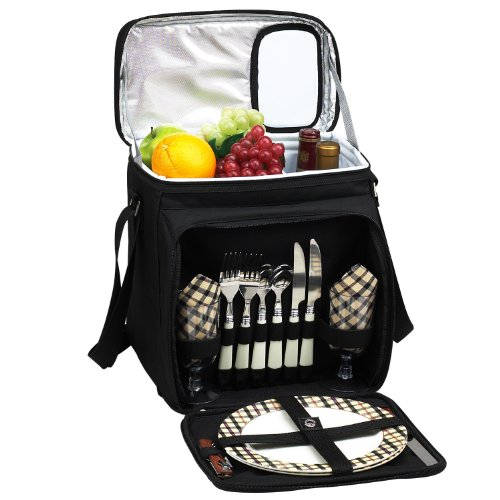 Picnic at Ascot Original Insulated Picnic Basket/Cooler Equipped with Service for 2- Designed,...