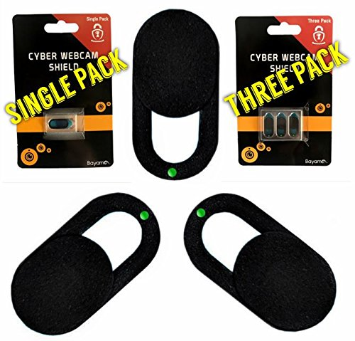 Webcam Cover Slider Set: Premium 3-Pack Ultra Thin Camera Security Cover for Privacy Protection (Sturdy, Easy Slide & Use Webcam Shield for Laptop, Smartphone, iPhone, PC) Great Gifting Idea
