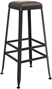 ZHJBD Furniture Stool Counter Height Bar Stools Metal Vintage Style Wrought Iron Barstool Bar Chair High Stool Can Used Kitchen Dining Room Counter Pub  Size 70CM