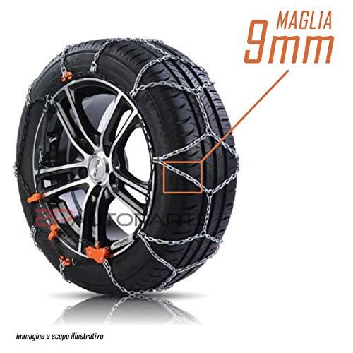 2parts Cadenas de Nieve homologadas GR. 70para neumáticos tamaño 205/50R15