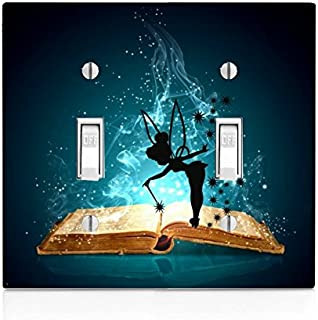 Tinkerbell Fairy Princess Periwinkle Peter Pan Disney Movie Pixi Dust Wings Gift Black Etched License Plate Aluminum Plate 12 Inch by 6 Inch Standard Size License Plate LP006