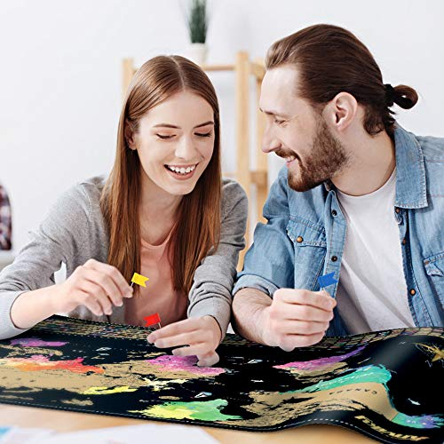 Anviky Scratch Off Map of The World-Includes Scratch Off USA and Complete Accessories Set,Travelers Map The Best Gifts for Travelers