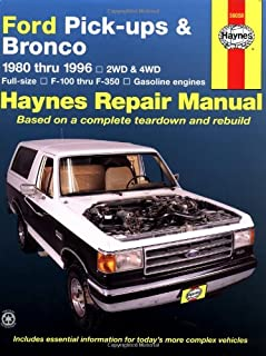 Ford Pick-ups & Bronco 1980 thru 1996 2WD & 4WD Full-Size, F-100 thru F-350 Gasoline Engines (Haynes Manuals)