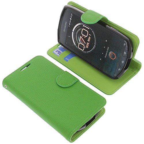foto-kontor Tasche für Kyocera KC-S701 Torque Book Style grün Schutz Hülle Buch