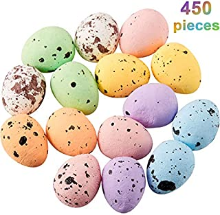 Fiada 450 Pieces Easter Multicolor Speckled Decorative Foam Eggs Ornaments for Crafts DIY Home Garden Decor, 0.6 x 0.7 Inch