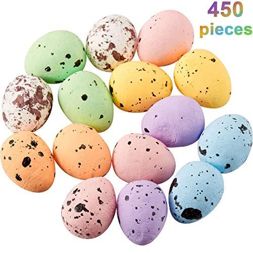 450 Pezzi Pasqua Multicolore Macchiettata Ornamenti di Uova di Schiuma per Casa Fai da Te Artigianale Arredamento da Giardino, 0.6 x 0.7 Pollici