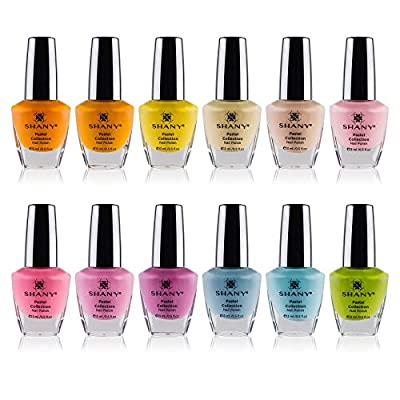 SHANY Tropical Collection Nail Polish Set - 12 Island-Inspired Shades with Gorgeous Semi-Glossy and Shimmer Finishes in Bright and Neon Colors