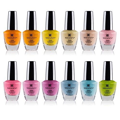 SHANY Cosmetics Nail Polish Set - 12 Spring Inspired Shades in Gorgeous Semi Glossy and Shimmery Finishes - Pastel Collection