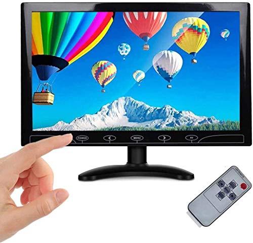 10,1 Pouces Portable HD Moniteur LED Petit LCD Écran avec HDMI/VGA/AV Port écran Étendre Monitor et Haut-Parleur Intégré pour DVR/PC/DVD/Domicile Bureau, Sécurité Surveillance PS3 PS4 Raspberry Pi