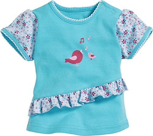 Schnizler T- Shirt Interlock Vögelchen, Turquoise (Turquoise 15), Naissance (Taille Fabricant:56) Mixte bébé