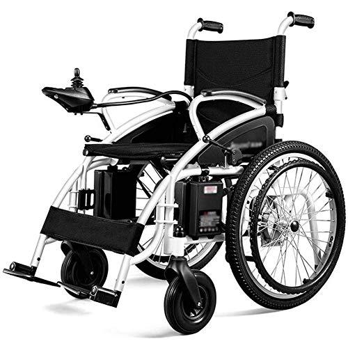 Daily Equipment Silla de ruedas eléctrica para adultos Scooter viejo y ligero plegable Silla de ruedas eléctrica para discapacitados Marco de aleación de aluminio 250W * 2 Potencia para discapacita