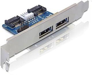 JIUWU Desktop Computer Dual Port SATA to Power eSATA eSATAp 9Pin to USB 2.0 Converter Expansion Rear Bracket Card