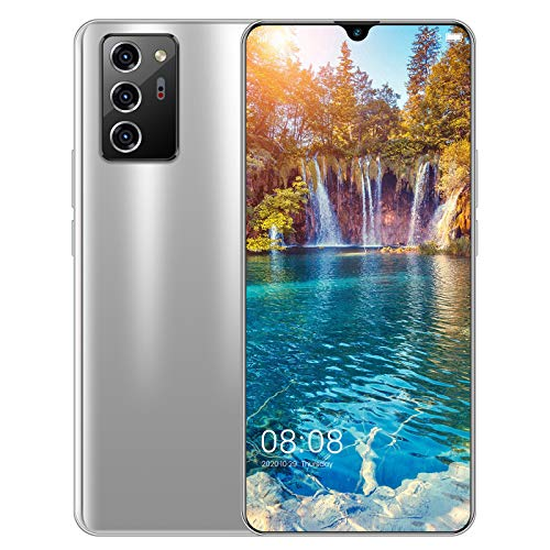 Teléfono Móvil, Note 60 Pro Smartphone Teléfonos Libres De SIM Desbloqueados, 6GB + 128GB, 7.1 Pulgadas HD + Pantalla De Gota De Agua, Cámaras Cuádruples De 13MP + 24MP, Batería De 5600mAh, 5G Dual
