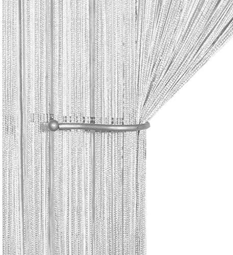 AIZESI Cortina Retro Lisa con Flecos para Puerta Protectora contra Insectos, Moscas, para Divisor Puertas o Ventanas, Cortina Panel 90x 200cm, mosquitero
