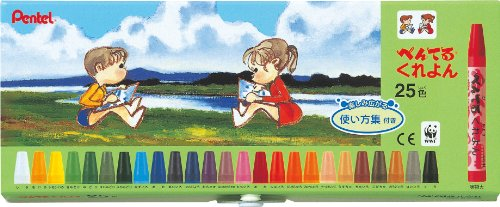 25 how to use color collection with PTCR-25 Pentel crayons (japan import)
