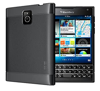 TUDIA Ultra Slim LITE TPU Bumper Protective Case for BlackBerry Passport [Not Compatible with Silver Edition or AT&T Version]  Black