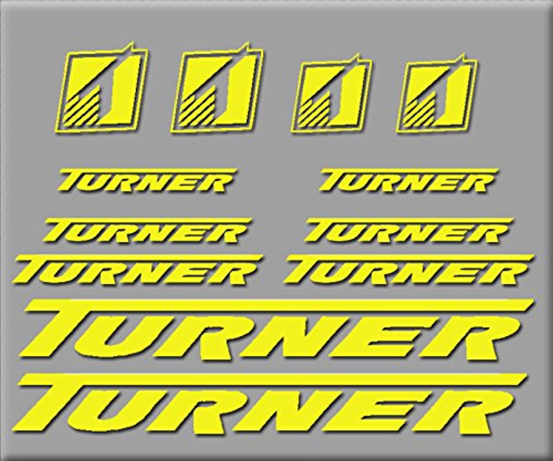 PEGATINAS TURNER BIKE R206 VINILO ADESIVI DECAL AUFKLEBER MTB STICKERS BIKE yellow