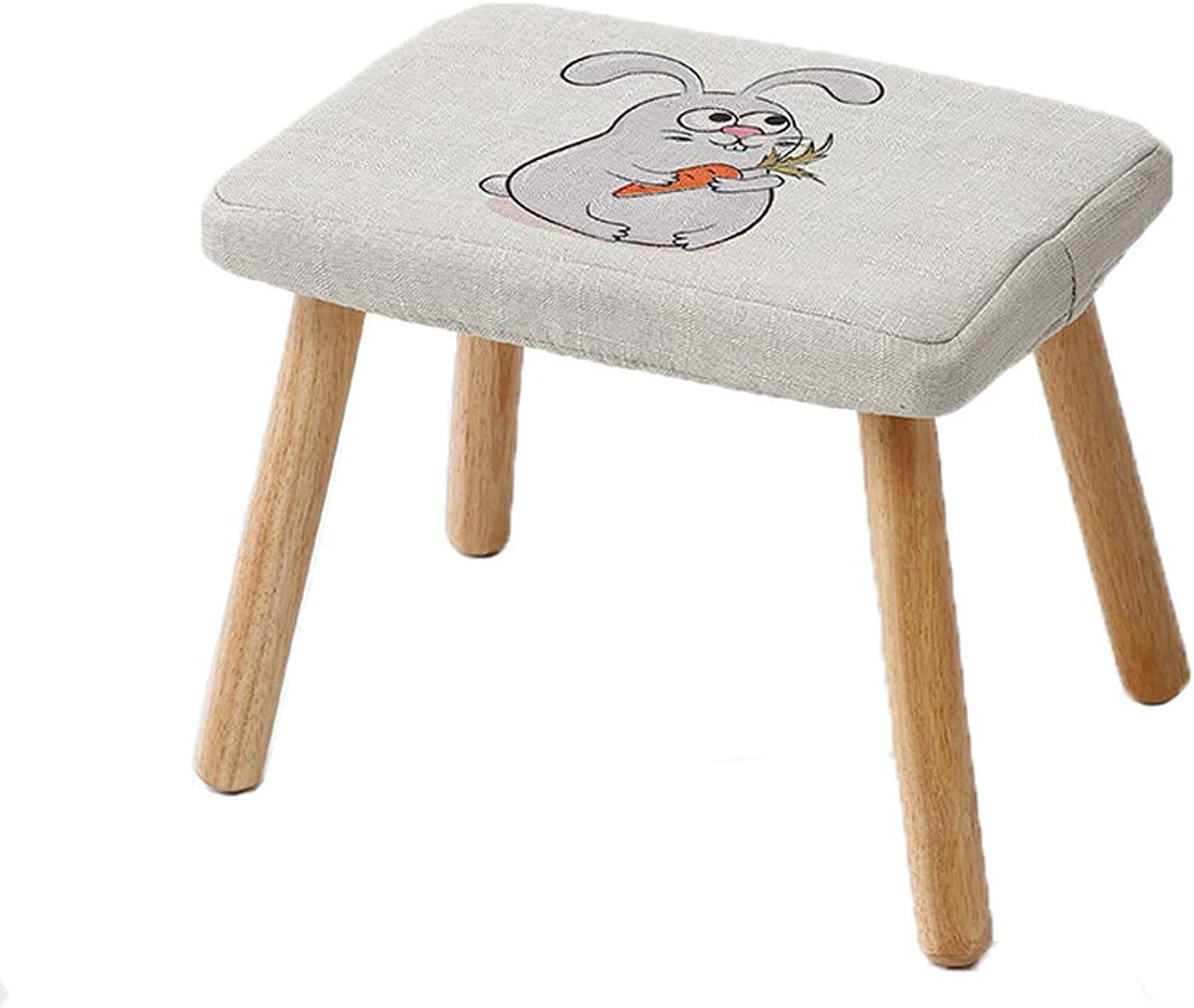 HLJ Simple Fashion Sofa Stool Personality Adult Change shoes Bench Creative Cartoon Small Bench Solid Wood Household Tea Table Stool