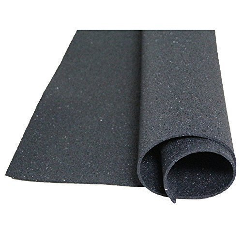 acerto 30100 Bouwbeschermingsmat gemaakt van rubbergranulaat - 1,05m x 1,05m x 8mm * Voor alle vloeren * Duurzaam * Elastisch | Te gebruiken als antislipmat, stalmat, vloermat, wasmachine onderlegger