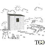 Casetta in legno per barbecue e attrezzatura Wonder Addossato bianco 102 x 207 cm