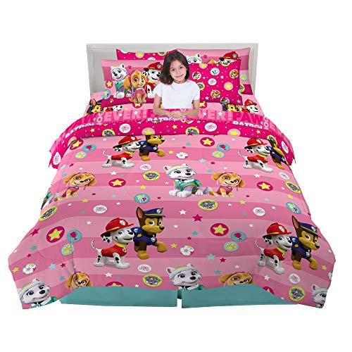 Franco Kids Bedding - Juego de sábanas y edredón supersuaves, 7 Piezas, tamaño Completo, Color Rosa