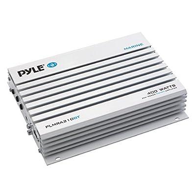 Pyle PLMRA210BT Elite Series Waterproof Bluetooth Amplifier (400 Watt 2-Channel Bridge Ability Marine Amp)