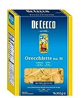 De Cecco セモリナパスタ、オレッキエッテNo.91、1ポンド(5パック)