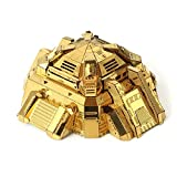 BBYaki 3D Metal Puzzle Star Fortress Kits de Modelos de Bloques de Acero Inoxidable DIY 3D Laser Cut Assemble Rompecabezas,Gold
