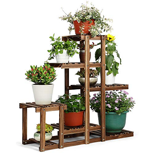 Hynawin Plant Stand Wood Multi Tier Plant Shelf Holder Indoor Outdoor Flower Rack Display Storage Shelves For Patio Garden Balcony Yard Buy Online In Faroe Islands At Faroe Desertcart Com Productid 163637250