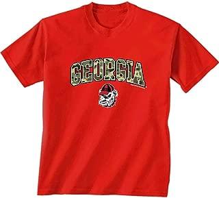 Camo Lettering Adult T-Shirt Georgia Bulldogs