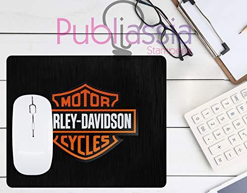 Publiassia Stamperia Harley Davidson 6 Mousepad Tappetino per Mouse Moto Idea Regalo Motor Motorcyclist Computer Tastiera Ufficio Gadget Lavoro Nerd Accessori pc Biker Accessori Moto Motociclisti