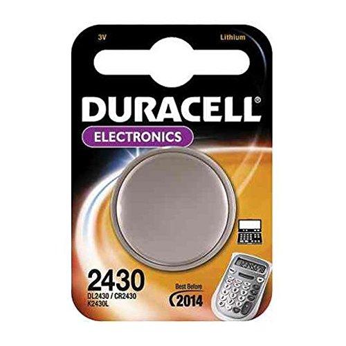 Duracell CR 2430 Batterie Rechargeable Lithium 3 V Pas – Pas Piles Rechargeables (Lithium, Bouton/pièce, 3 V, 1 (E), CR2430, Blister)