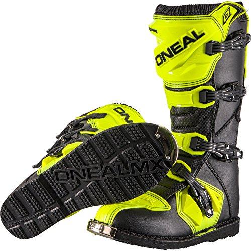 O'Neal Rider Boot MX Stiefel Hi-Viz Neon Gelb Motocross Enduro Motorrad, 0329-5, Größe 46 - 5
