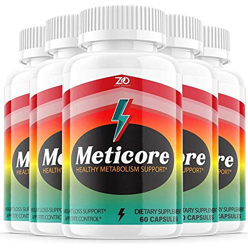(5 Pack) Meticore Weight Management Pills, Medicore Manticore Pills Metabolism Supplement Booster - Healthy Energy Support (300 Capsules)