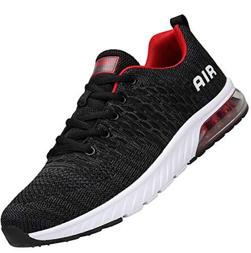 Mishansha Hombre Zapatillas Deportivas Ultra Ligero Fly Knit Zapatos de Calle Flexible Elástico Suave Absorción de Impacto Zapato para Caminar Primavera Verano Sport Shoes, Gris 43
