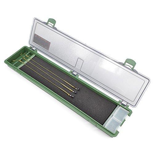 Hirisi Tackle Rig Safe Box für Karpfenvorfächer, Tacklebox, Angelbox, Vorfach, Karpfenvorfach, Angeln auf Karpfen